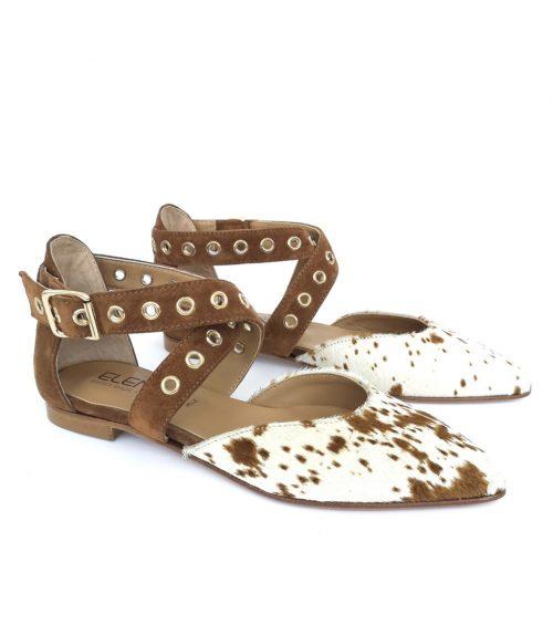 Scarpa donna con cavallino punta sfilata Made in Italy