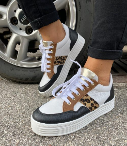 sneakers donna Made in Italy pelle cavallino