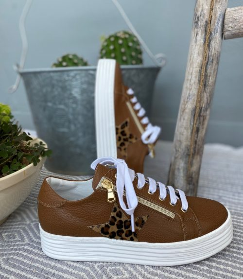 Sneakers pelle donna made in Italy